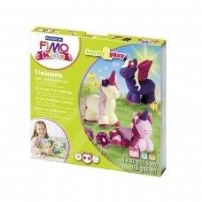 """FIMO® Kids modelinas (kietėjantis aukštoje temperatūroje) Form & Play kūrybos rinkinys """"Unicorn"""""""