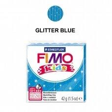 FIMO® Kids modelinas (kietėjantis aukštoje temperatūroje) Glitter Blue 42g