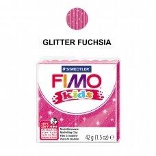 FIMO® Kids modelinas (kietėjantis aukštoje temperatūroje) Glitter Fuchsia 42g