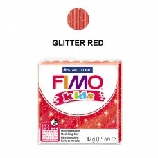 FIMO® Kids Modelling Clay (oven-bake) Glitter Red 42g