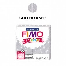 FIMO® Kids Modelling Clay (oven-bake) Glitter Silver 42g