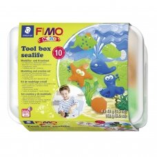 "FIMO® Kids Modelling Clay (oven-bake) Tool Box Set ""Sealife"""