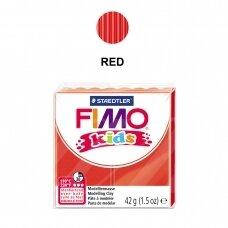 FIMO® Kids modelinas (kietėjantis aukštoje temperatūroje) Red 42g