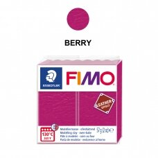 FIMO® Leather Effect Modelling Clay (oven-bake) Berry 57g