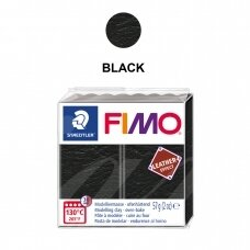 FIMO® Leather Effect Modelling Clay (oven-bake) Black 57g