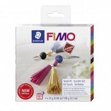 FIMO® Leather Effect modelinas (kietėjantis aukštoje temperatūroje) kutų/juostelių gamybos rinkinys