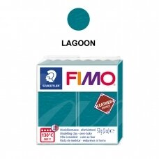 FIMO® Leather Effect Modelling Clay (oven-bake) Lagoon 57g
