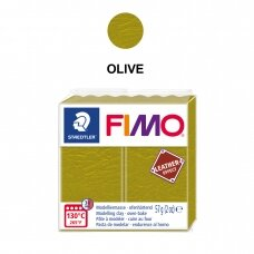 FIMO® Leather Effect Modelling Clay (oven-bake) Olive 57g