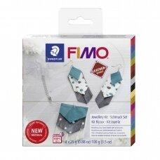 FIMO® Leather Effect modelinas (kietėjantis aukštoje temperatūroje) papuošalų gamybos rinkinys