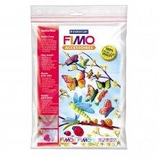 """FIMO® modelino formos, šablonai """"Butterflies"""" 9x4cm (9 modeliai)"""