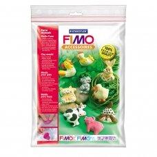 "FIMO® modelino formos, šablonai ""Farm Animals"" 5x4cm (9 modeliai)"