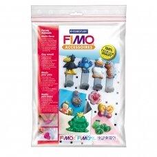 """FIMO® modelino formos, šablonai """"Funny Animals"""" 6x4cm (10 modeliai)"""