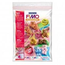 """FIMO® modelino formos, šablonai """"Little Bears"""" 6x3cm (8 modeliai)"""