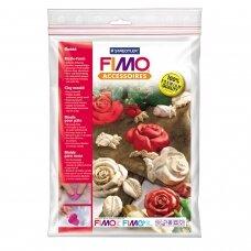 """FIMO® modelino formos, šablonai """"Roses"""" 7x7cm (7 modeliai)"""
