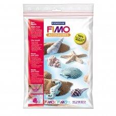 """FIMO® modelino formos, šablonai """"Sea Shells"""" 6x6cm (6 modeliai)"""