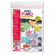 """FIMO® modelino formos, šablonai """"Spring"""" 6x7cm (7 modeliai)"""