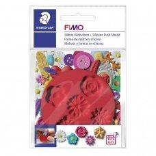 """FIMO® silikoninė forma, šablonas modelinui """"Flowers"""""""