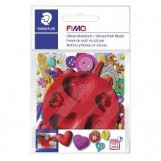 """FIMO® silikoninė forma, šablonas modelinui """"Hearts"""""""