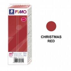 FIMO® Soft modelinas (kietėjantis aukštoje temperatūroje) Christmas Red 454g