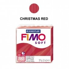 FIMO® Soft Modelling Clay (oven-bake) Christmas Red 57g