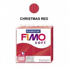 FIMO® Soft modelinas (kietėjantis aukštoje temperatūroje) Christmas Red 57g