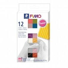 FIMO® Soft modelinas (kietėjantis aukštoje temperatūroje) stilingų spalvų pakuotė (12 vnt/25g kiekvienas)