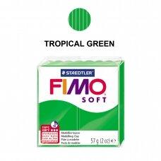 FIMO® Soft modelinas (kietėjantis aukštoje temperatūroje) Tropical Green 57g