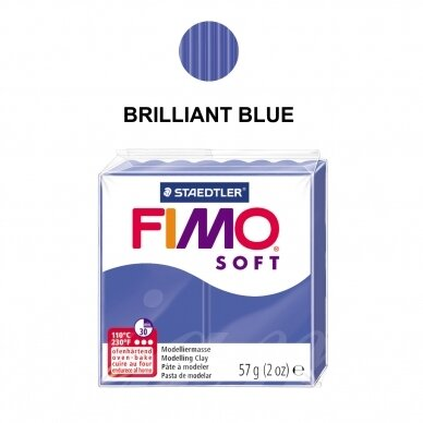 FIMO® Soft Modelling Clay (oven-bake) Brilliant Blue 57g