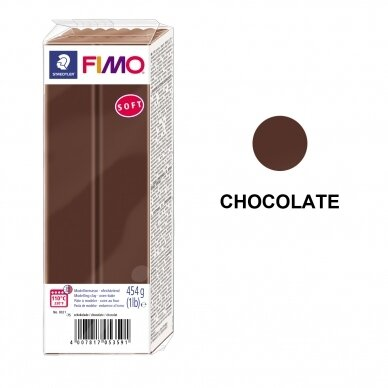 FIMO® Soft Modelling Clay (oven-bake) Chocolate 454g