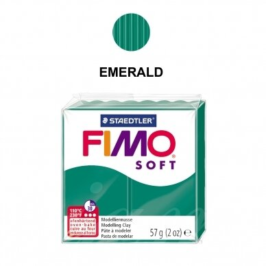 FIMO® Soft Modelling Clay (oven-bake) Emerald 57g
