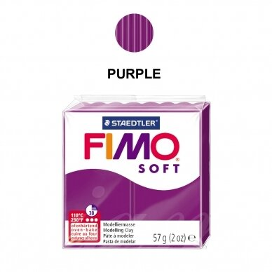 FIMO® Soft Modelling Clay (oven-bake) Purple 57g