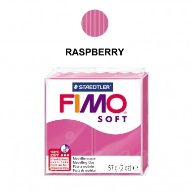 FIMO® Soft Modelling Clay (oven-bake) Raspberry 57g