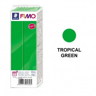 FIMO® Soft Modelling Clay (oven-bake) Tropical Green 454g
