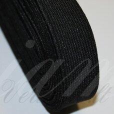 GM0016 apie 09 mm, juoda spalva, guma, 1 m.