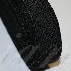gm0016 apie 25 mm, juoda spalva, guma, 1 m.