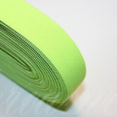 gm0023 apie 20 mm, ryški, salotinė spalva, guma, 1 m.