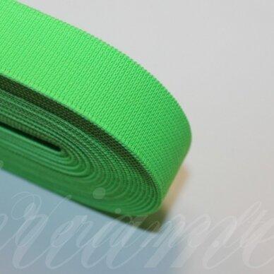 gm0024 apie 20 mm, ryški, žalia spalva, guma, 1 m.