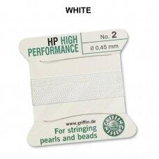 Griffin® High Performance virvelė (2 adatos) dydis 2 (0.45mm) White (2m)