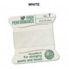 Griffin® High Performance virvelė (2 adatos) dydis 7 (0.75mm) White (2m)
