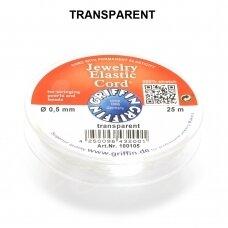 Griffin® Jewelry Elastic virvelė 0.5mm diametro Transparent (25m)
