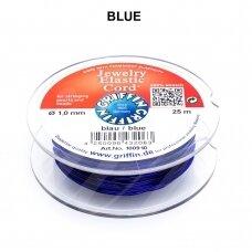 Griffin® Jewelry Elastic virvelė 1mm diametro Blue (25m)