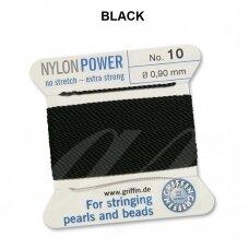 Griffin® NylonPower siūlas (1 adata) dydis 10 (0.90mm) Black (2m)