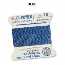 Griffin® NylonPower siūlas (1 adata) dydis 10 (0.90mm) Blue (2m)