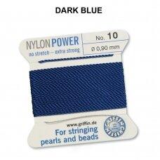 Griffin® NylonPower siūlas (1 adata) dydis 10 (0.90mm) Dark Blue (2m)