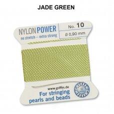Griffin® NylonPower siūlas (1 adata) dydis 10 (0.90mm) Jade Green (2m)