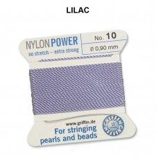 Griffin® NylonPower siūlas (1 adata) dydis 10 (0.90mm) Lilac (2m)