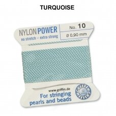 Griffin® NylonPower siūlas (1 adata) dydis 10 (0.90mm) Turquoise (2m)
