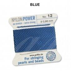Griffin® NylonPower siūlas (1 adata) dydis 12 (0.98mm) Blue (2m)