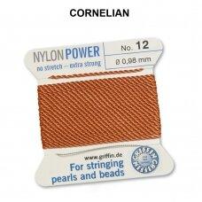 Griffin® NylonPower siūlas (1 adata) dydis 12 (0.98mm) Cornelian (2m)