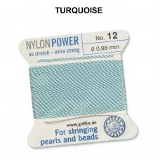 Griffin® NylonPower siūlas (1 adata) dydis 12 (0.98mm) Turquoise (2m)